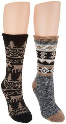 Muk Luks Heat Retainer Socks Set of Two