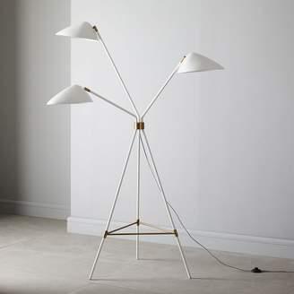 west elm Curvilinear Mid-Century Floor Lamp - White