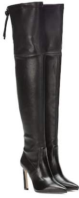 Stuart Weitzman Natalia 100 leather over-the-knee boots