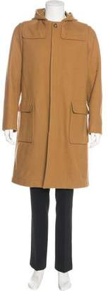 Ami Alexandre Mattiussi Hooded Wool Overcoat