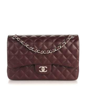 Chanel Classic Double Flap Quilted Jumbo Burgundy