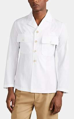 Maison Margiela Men's Padded Cotton Poplin Military Shirt - White