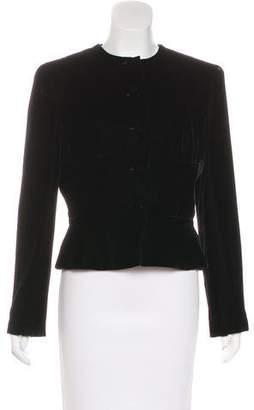 Giorgio Armani Structured Velvet Jacket