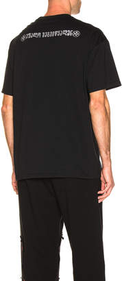 Vetements Crystal God Bless You Tee in Black | FWRD