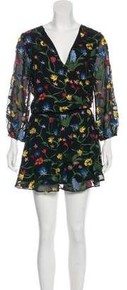 Alice + Olivia Embroidered Bell Sleeve Dress w/ Tags