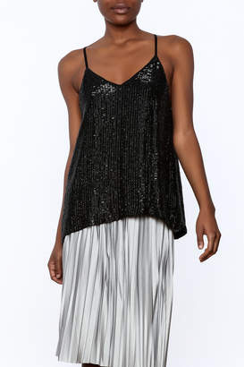 MLV Black Sleeveless Sequin Top