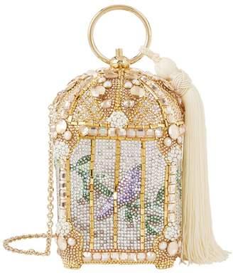 Judith Leiber Crystal Birdcage Minaudière Clutch
