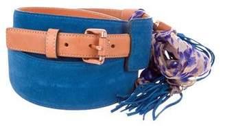 Just Cavalli Suede Embellished Waist Belt