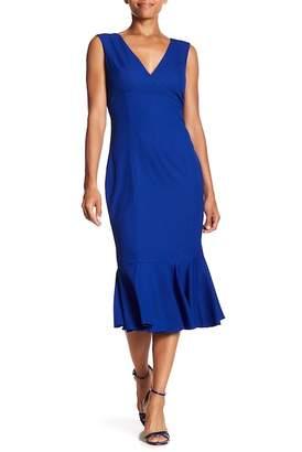 Marina Flounce Hem Sleeveless Dress