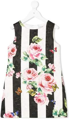 Dolce & Gabbana floral striped dress