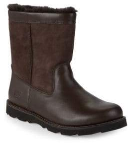 UGG Wrangell Leather & Sheepskin High-Top Boots