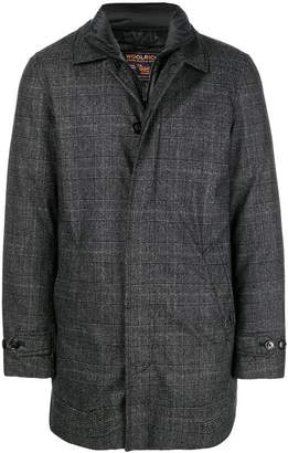 Woolrich padded lining checked coat