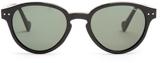 Moncler Round Frame Acetate Sunglasses - Mens - Black