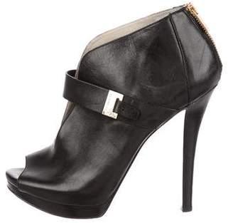 MICHAEL Michael Kors Leather Peep-Toe Booties