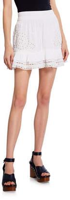 Ramy Brook Ebonie Eyelet Flounce Shirt Skirt