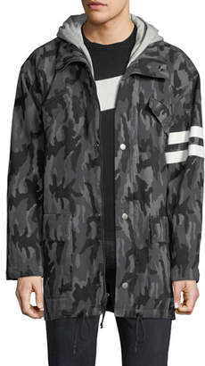 Joe's Jeans Men's Hooded Camo Parka Jacket