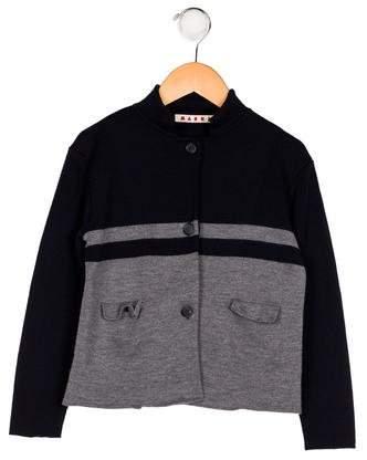 Marni Junior Boys' Striped Wool Cardigan