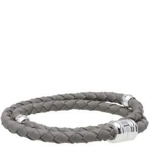 Miansai Silver Casing Leather Bracelet