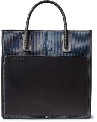Hopper Patchwork Cotton And Leather Tote Bag