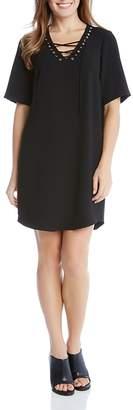 Karen Kane Lace-Up Dress $139 thestylecure.com