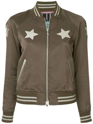 GUILD PRIME star print bomber jacket