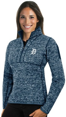 Antigua Women's Detroit Tigers Fortune Midweight Pullover Sweater