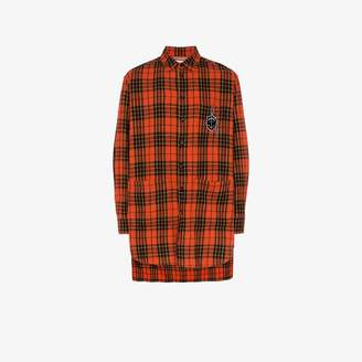 793eb941 Gucci Oversize check wool shirt with anchor