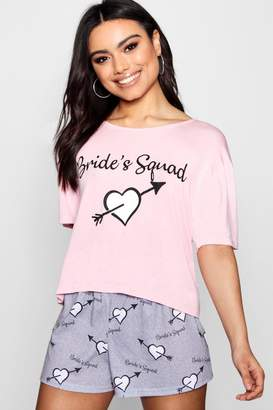 boohoo Brides Squad Heart Short Set