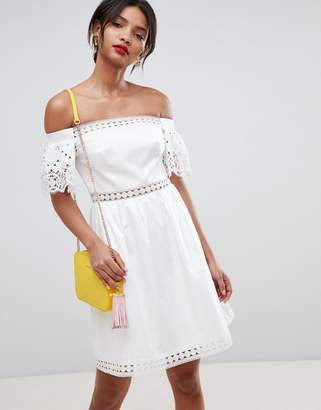 Ted Baker geo lace cotton midi dress