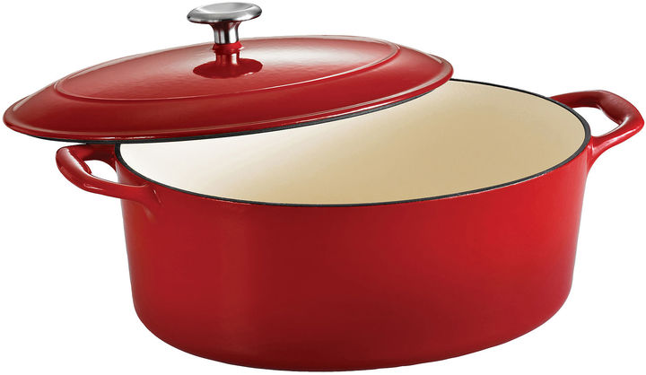 Tramontina Gourmet 7-qt. Enameled Cast Iron Covered Oval Dutch Oven