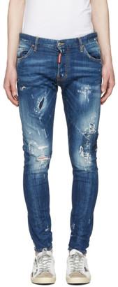 Dsquared2 Blue Sexy Twist Jeans $590 thestylecure.com