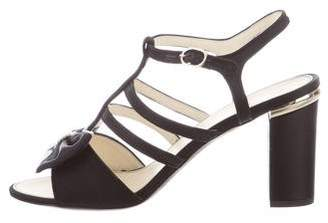 Chanel 2016 Embellished Bow Sandals