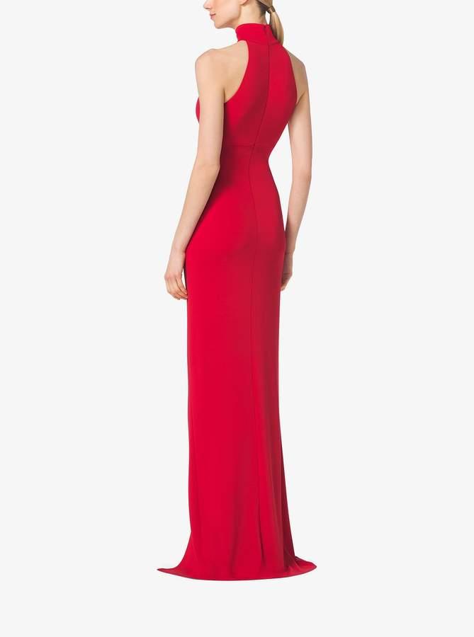 Michael Kors High-Neck Matte-Jersey Gown - ShopStyle Evening