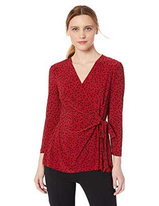 Anne Klein Women's Faux WRAP TOP