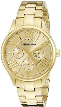 Stuhrling Original Symphony Regent Lady Majestic Women's Quartz Watch with Gold Dial Analogue Display and Gold Plated Bracelet 391L.03