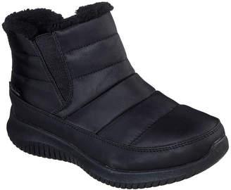 Skechers Womens Ultra Flex Shawty Wate/Slip Resistant Winter Boots