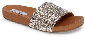 Women's Steve Madden Dazzle Embellished Slide Sandal $69.95 thestylecure.com