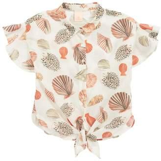 Scotch R'Belle Print Tie Front Top (Little Girls & Big Girls)
