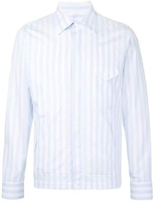 Kent & Curwen striped shirt jacket