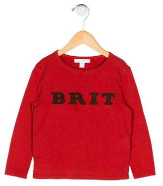 Burberry Boys' Suede-Trimmed Knit Shirt