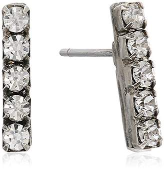 Sorrelli Lisa Oswald Collection Rhinestone Bar Post Stud Earrings