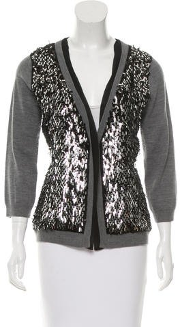 Kate Spade Kate Spade New York Wool Three-Quarter Sleeve Cardigan