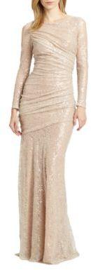 Carmen Marc ValvoCarmen Marc Valvo Sequined Lace Gown