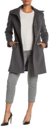 Calvin Klein Single Breasted Wool Coat