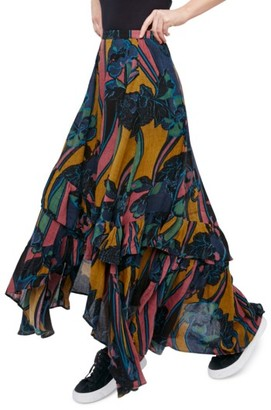 Women's Free People Bring Back The Summer Maxi Skirt $148 thestylecure.com