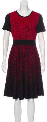Carmen Marc Valvo Knit Midi Dress