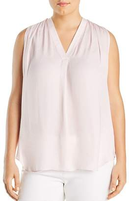 Vince Camuto Plus Shirred Sleeveless Top