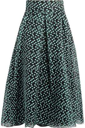 Lela Rose Polka-Dot Organza Skirt
