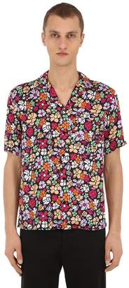 Floral Print Viscose Poplin Shirt