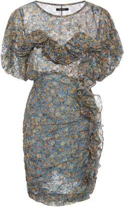 Isabel Marant Face Ruffled Sheath Mini Dress